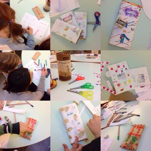 Il workshop di unduetrestellababy per Pernigotti: decorare una tavoletta di cremino e dedicarla a una persona amata.
