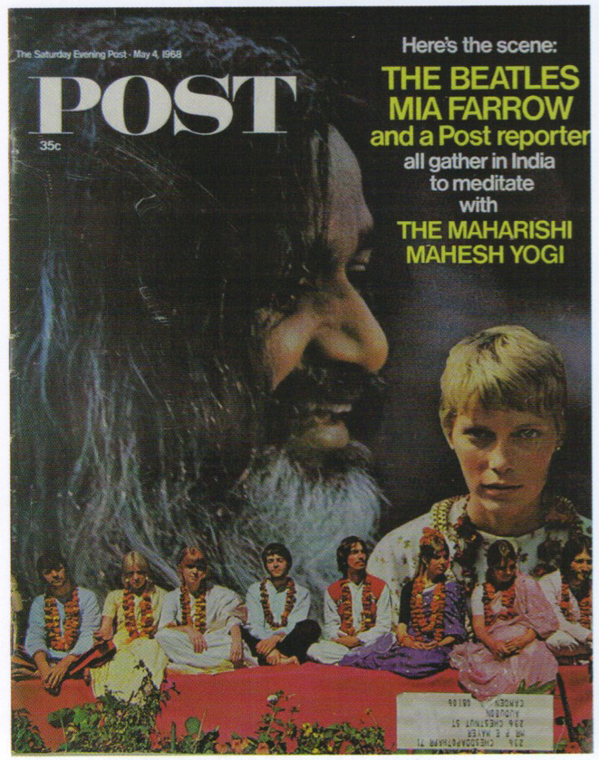 Copertina della rivista inglese POST dedicata al viaggio in India dei Beatles, 4 maggio 1968