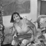 L'artista Florencia Martinez nel suo studio, Milano, 2015