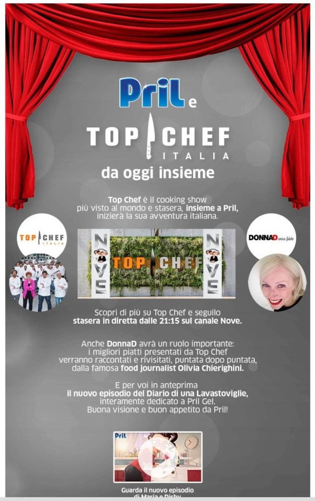 Pril e Top Chef Italia