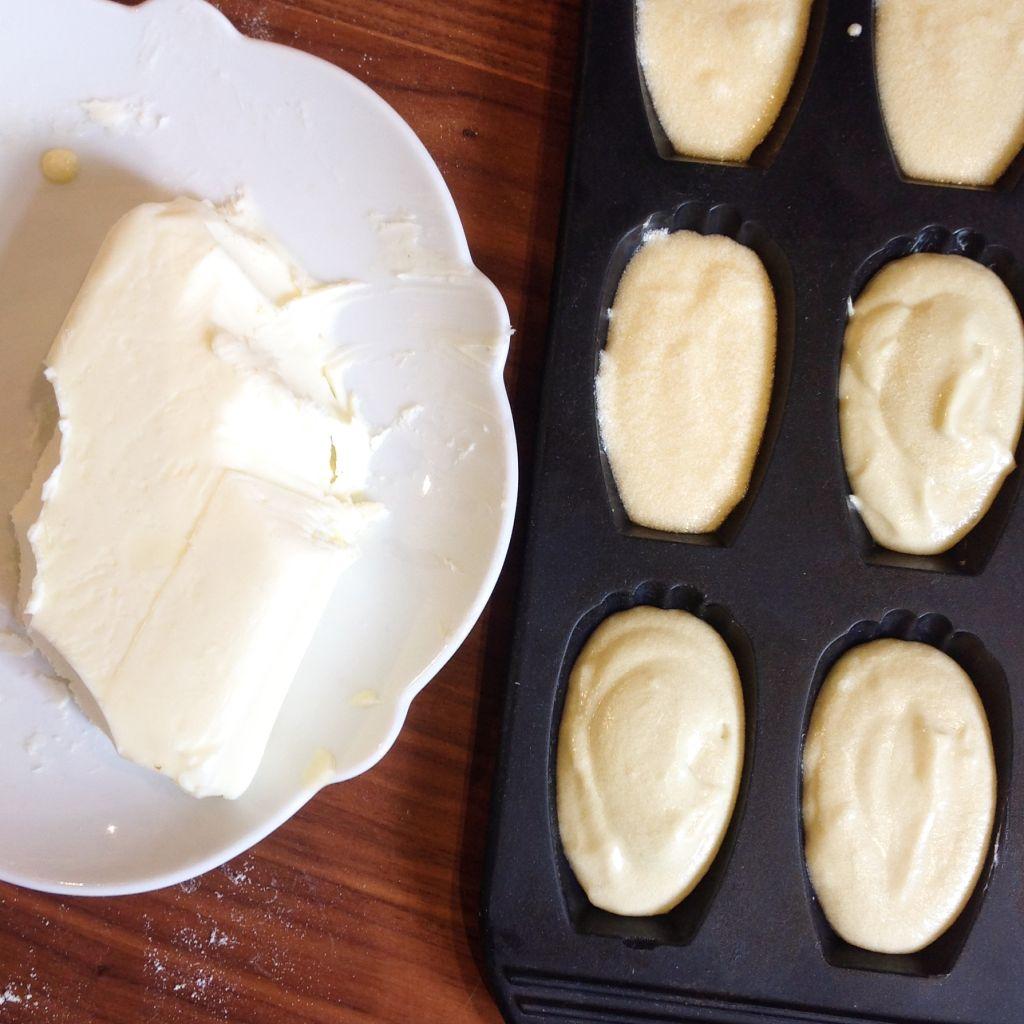 Madeleines: pas peur du beurre