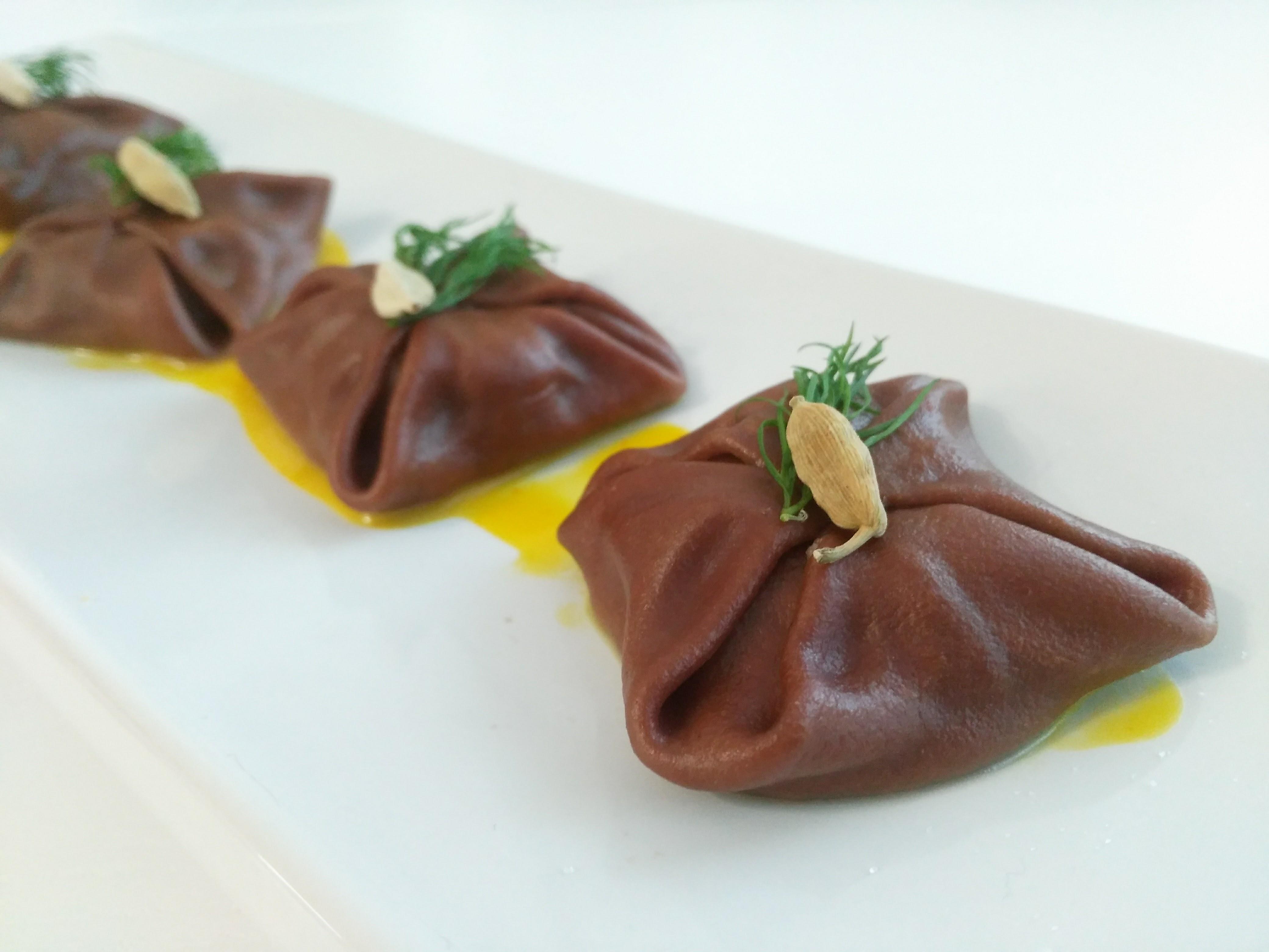 ravioli al cacao di Giuseppe Tortorella