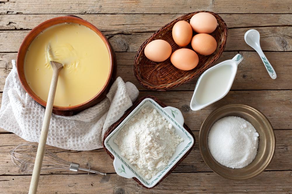 Gli ingredienti della crema pasticciera