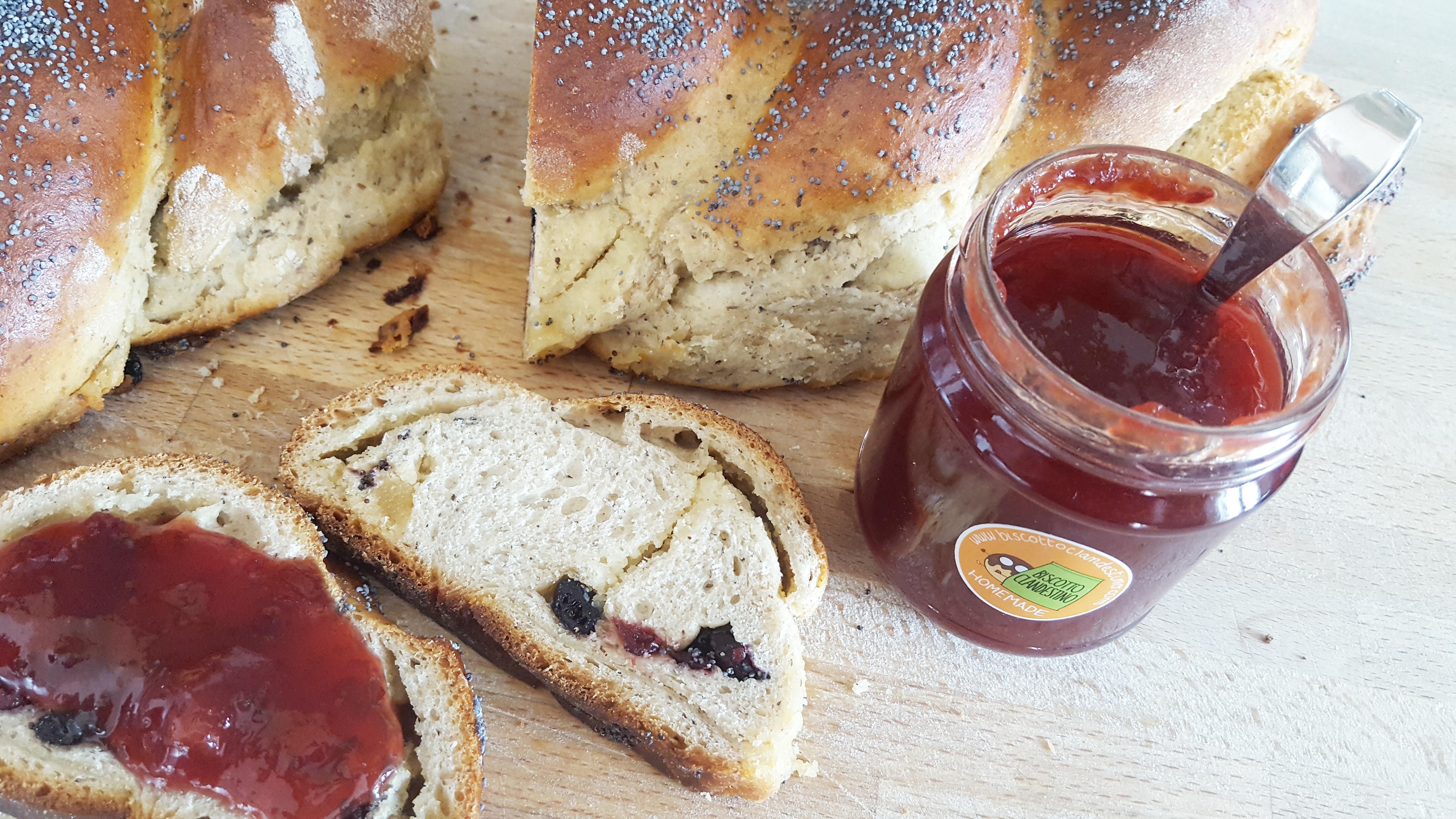 pan brioche grano saraceno papavero e marzapane