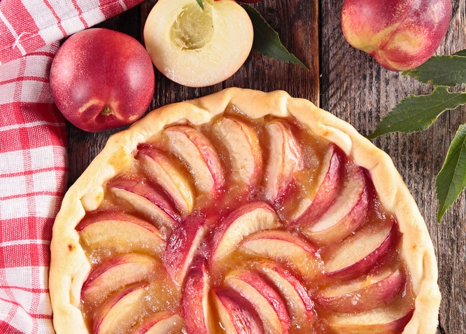 crostata pesche - peach pie