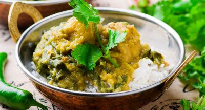 Pollo al curry Madras
