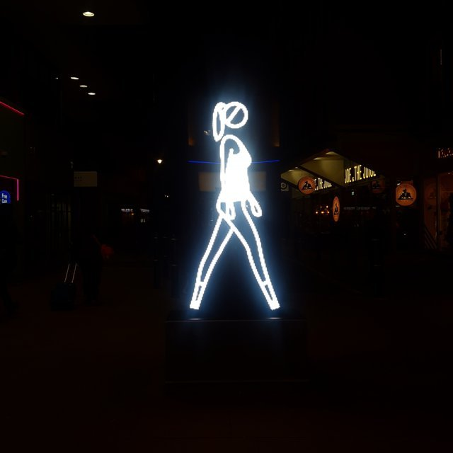 Shaida Walking lights by Julian Opie