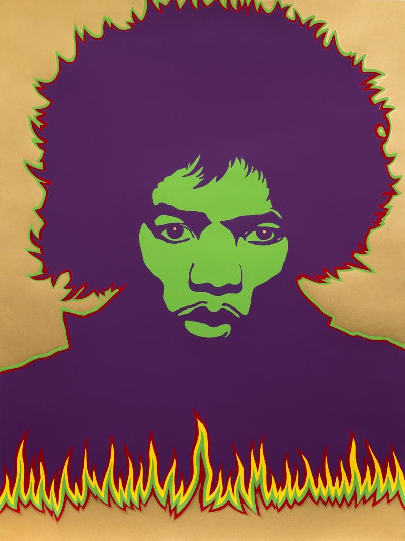 Poster di Jimi Hendrix, 1967, ideato da Larry Smart © Victoria and Albert Museum, London