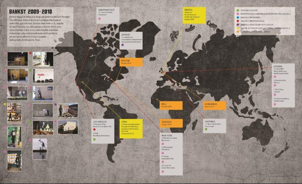 Ma dov'è Bansky - Xavier Tapies - L'Ippocampo Edizioni - estratto - mappa del 2009